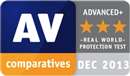 AV-Comparatives - top rated product 2013 real world protection test