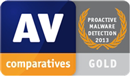 AV-Comparatives - gold - proactive protection 2013